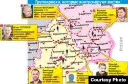 Территория, контролируемая сепаратистами в Донбассе