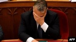 Прем'єр-міністр Угорщини Віктор Орбан після голосування в парламенті, Будапешт, 8 листопада 2016 року