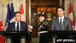 Встреча лидеров Канады и Франции перед саммитом G7