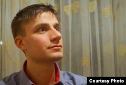 """""""Замандас"""" газетінің бас редакторы Максим Споткай. Жеке мұрағаттан алынған."""