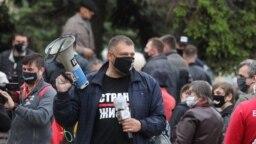 Сяргей Ціханоўскі перад затрыманьнем у Горадні 29 траўня