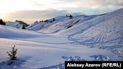 Урочище Кокжайляу в горах Заилийского Алатау близ Алматы. 18 февраля 2013 года.