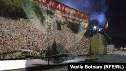 Chișinău în miez de noapte, după protestele de la Parlament.