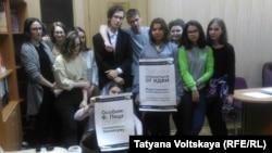 Участники студенческого протеста
