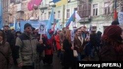 """Участники """"Марша солидарности"""" в Киеве"""