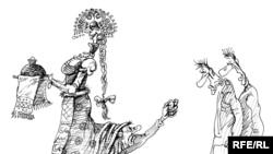 Отношения власти и бизнеса в России. Карикатура Михаила Златковского