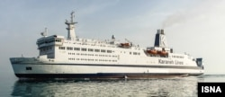 Sunny, the cruise ship to dock at Kish Island in nearly 40 years, shown in April.