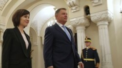 Premierul Maia Sandu în prima sa vizită la București