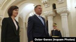 Maia Sandu a fost primită de președintele Klaus Iohannis