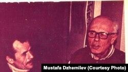 Мустафа Джемилев и Андрей Сахаров, Москва, 1996 год. Архив Мустафы Джемилева