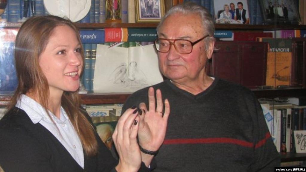 Аляксандра Герасіменя ў гасьцях у Генадзя і Юліі Бураўкіных, архіўнае фота