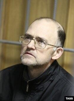 Сергей Кривов во время голодовки, Никулинский суд Москвы, ноябрь 2013 года