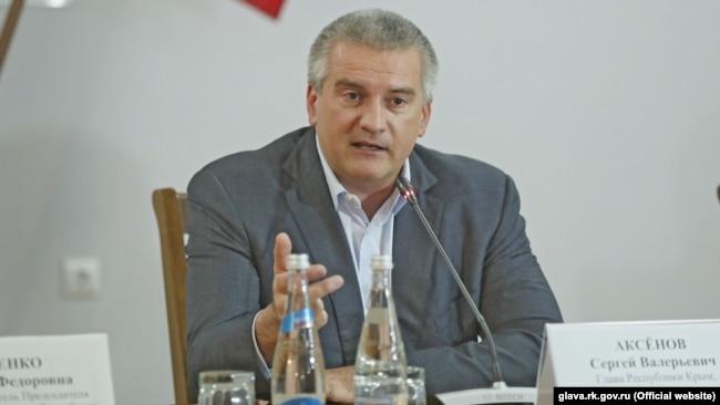 Глава подконтрольного России правительства Крыма Сергей Аксенов