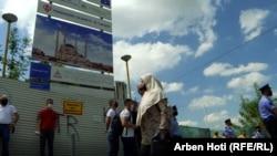 Vendi ku do të ndërtohet xhamia, në qendër të Prishtinës.