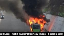 В последние годы в Узбекистане часто происходят случаи аварий и возгорания автобусов.
