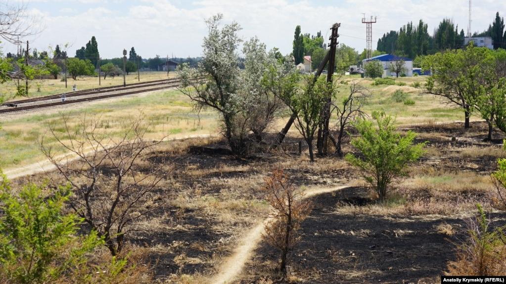 В эти дни в городе стоит тридцатиградусная жара. Происходят возгорания в лесопосадке возле железнодорожного вокзала