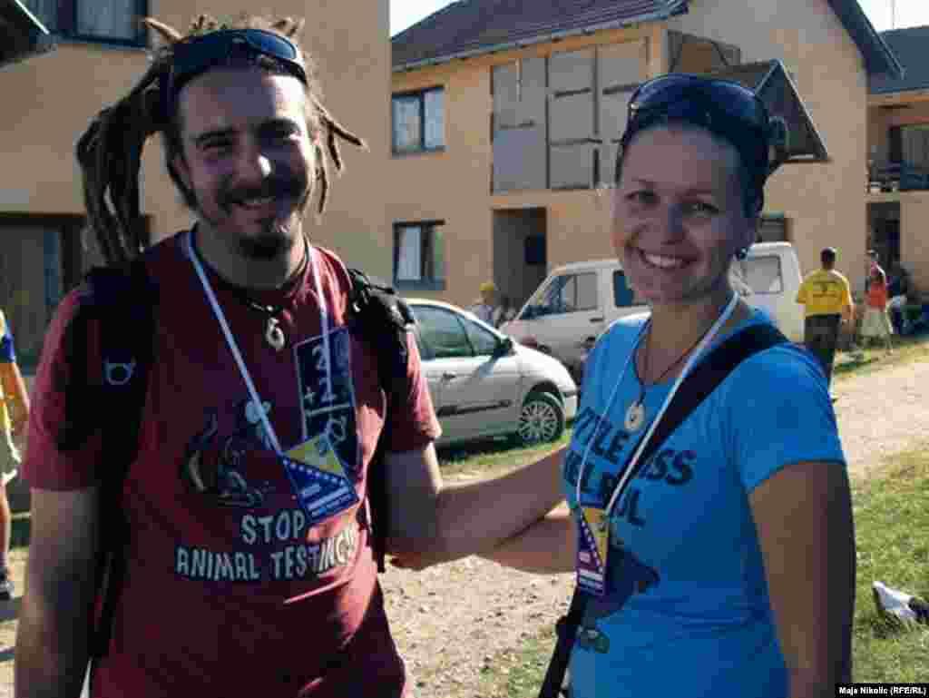 Eva Leskova sa suprugom učestvuje u ovogodišnjem Maršu mira, 08.07.2011. Foto: RSE / Maja Nikolić