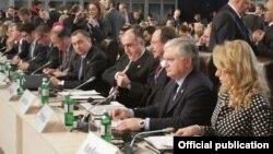 Глава МИД Армении Эдвард Налбандян во время министерской встречи ОБСЕ, 5 декабря 2013 г․