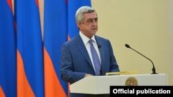 Президент Вірменії Серж Сарґсян, 1 серпня 2016 року