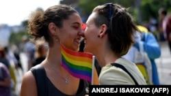 Сербия астанасында өткен гей-парадқа қатысушылар. Белград, 17 қыркүйек 2017 жыл.