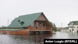Затопленные дома в Приамурье