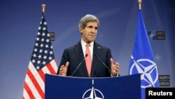 U.S. Secretary of State John Kerry, speaking December 3 at NATO headquarters.