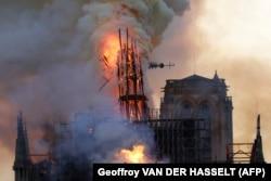 Пожар в соборе Парижской Богоматери 15 апреля 2019 года