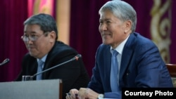 Алмазбек Атамбаев на встрече с активом Чуйской области КР, 2 октября 2017 г.