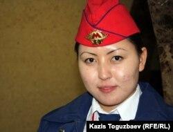 Алматы метросының қызметкері, 12 желтоқсан 2011 жыл.