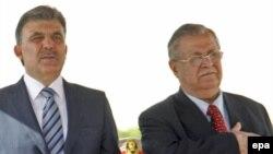 Prezident Təlabani türkiyəli həmkarı Abdullah Güllə. Bağdad, 23 mart 2009
