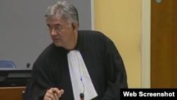 Branko Lukić, branitelj Ratka Mladića tijekom unakrsnog ispitivanja svjedoka Ernauta Van Lindena, 22. kolovoz 2012.