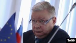 Руководитель Федеральной миграционной службы (ФМС) России Константин Ромодановский на пресс-конференции в Москве, 16 февраля 2015 года.