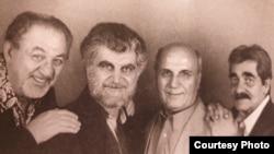 از راست به چپ: گرشا، رضا صفایی، متوسلانی و سپهرنیا