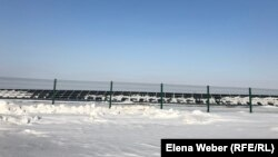 Солнечные панели станции в Сарани.
