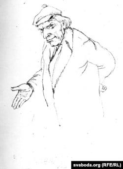 Сяброўскі шарж на кіраўніка гаспадаркі «Рассвет» Васіля Старавойтава