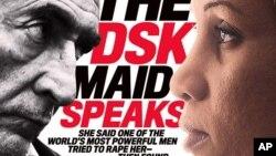 ABŞ - Dominique Strauss-Kahn və onu ittiham edən otel xidmətçisi Nafissatou Diallo jurnal səhifələrində. İyul, 2011