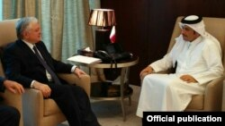 Qatar - Qatari Foreign Minister Sheikh Mohammed bin Abdulrahman bin Jassim Al-Thani meets with his Armenian counterpart Edward Nalbandian in Doha, 18Jun2017.