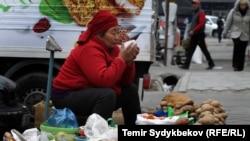 Рынок в Кыргызстане. Бишкек, 2017 год.