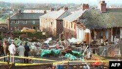 Обломки самолета в деревне Локерби