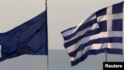 ევროკავშირისა და საბერძნეთის დროშები