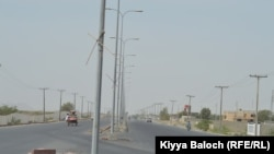 The newly constructed Turbat Airport road.