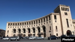 Armenia - The Foreign Ministry building in Yerevan, 23Mar2011.