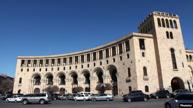 Armenia - The Foreign Ministry building in Yerevan, 23Mar2012.