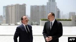 Cu gazda sa președintele azer Ilham Aliev la Baku