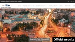 Romania: Imaginea site-ului Președintiei române a UE, exclusiv în limba română