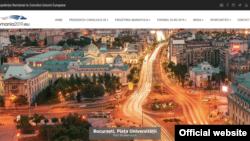 Imaginea site-ului Președintiei române a UE, exclusiv în limba română