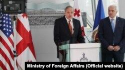 Посол США в Грузии Ян Келли и министр иностранных дел Грузии Георгий Мгебришвили