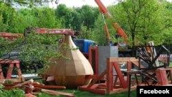 Строительство храма у Головинских прудов.