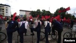 Предизборен митинг на ДПА во Скопје на 3 јуни 2011 година.