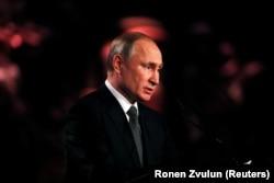 Виступ президента Путіна на форумі у Яд-Вашемі. 23 січня 2020 року